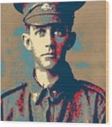 Portrait Of A Young  Wwi Soldier Series 19 Wood Print