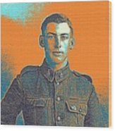 Portrait Of A Young  Wwi Soldier Series 6 Wood Print