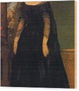 Portrait Of Actress Fanny Janauscher Wood Print