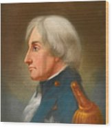 Portrait Of Admiral Lord Nelson Wood Print