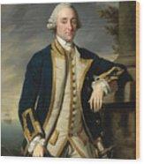 Portrait Of Admiral Sir Hugh Palliser 1st Bart Wood Print