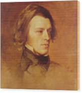 Portrait Of Alfred Lord Tennyson Wood Print by Samuel Laurence