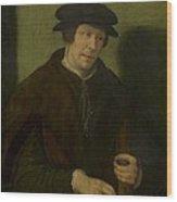 Portrait Of An Almoner Of Antwerp Wood Print