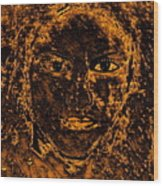 Portrait Of An Ancient Woman Wood Print