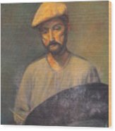 Portrait Of An Artist Wood Print