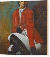 Portrait Of An Equestrian Wood Print
