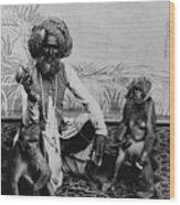 Portrait Of An Indian Fakir Wood Print