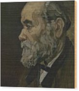 Portrait Of An Old Man Antwerp December 1885 Vincent Van Gogh 1853  1890 Wood Print