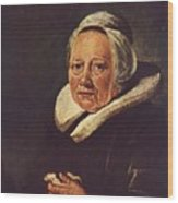 Portrait Of An Old Woman 1645 Wood Print