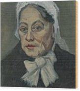Portrait Of An Old Woman Antwerp December 1885 Vincent Van Gogh 1853  1890 Wood Print