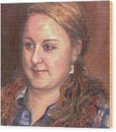 Portrait Of Andrea Wood Print
