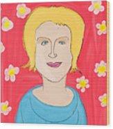 Portrait Of Ania Wood Print