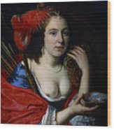 Portrait Of Anna Du Pire As Granida Wood Print