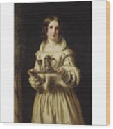 Portrait Of Anne Page Wood Print