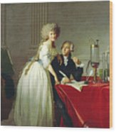 Portrait Of Antoine-laurent Lavoisier And His Wife Wood Print