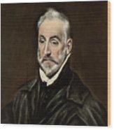 Portrait Of Antonio De Covarrubias Wood Print