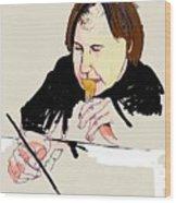 Portrait Of Artist Wood Print