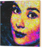 Portrait Of Audrey Hepburn Wood Print