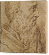 Portrait Of Baccio Bandinelli In Profile To The Right Wood Print