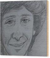 Portrait Of Barry Manilow 3 Wood Print