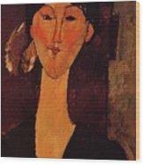 Portrait Of Beatrice Hastings 1915 Wood Print