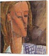 Portrait Of Beatrice Hastings 1916 Wood Print