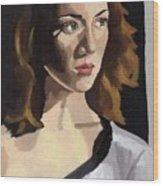 Portrait Of Becca Wood Print