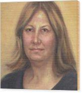Portrait Of Birdie Wood Print