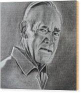 Portrait Of Bud Wood Print