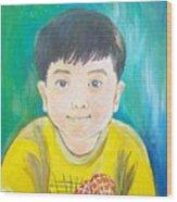 Portrait Of Bybob Unfinished Wood Print