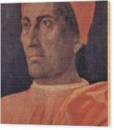 Portrait Of Cardinal Carlo De Medici 1466 Wood Print