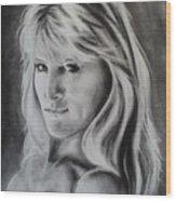 Portrait Of  Carla Wood Print