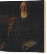 Portrait Of C.d. Barraud, 1897, Wellington, By James Nairn Wood Print