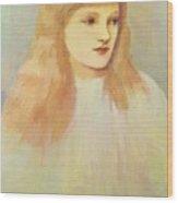 Portrait Of Cecily Horner Wood Print