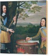 Portrait Of Charles I And Sir Edward Walker Wood Print