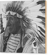 Portrait Of Chief Red Cloud Wood Print