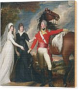 Portrait Of Colonel Fitch And His Sisters Wood Print