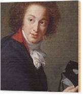Portrait Of Count Grigory Chernyshev With A Mask In His Hand     Lisabeth Louise Vige Le Brun Wood Print