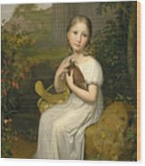 Portrait Of Countess Louise Bose As A Child Wood Print