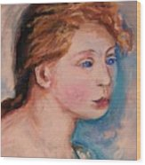 Portrait Of  Country Girl Wood Print