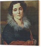 Portrait Of Darya Nikolaevna Chvostova 1814 Wood Print