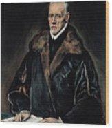 Portrait Of Dr. Francisco De Pisa Wood Print