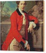 Portrait Of Edmund Rolfe Wood Print