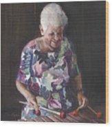 Portrait Of Edwinna Wood Print