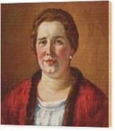 Portrait Of Ekaterina Ivanovna Kogan Wood Print