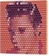 Portrait Of Elvis Presley  Wood Print