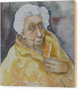 Portrait Of Eudora Welty   Wood Print