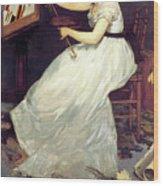 Portrait Of Eva Gonzales 1870 Wood Print
