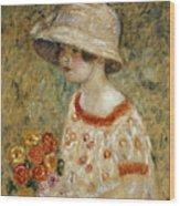 Portrait Of Frances Kilmer Wood Print