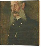 Portrait Of General E Burd Grubb Wood Print